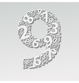 Number nine vector image