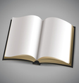 Open book with blank white pages vector image