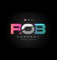 Rob r o b three letter logo icon design vector image