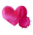 Abstract hand drawn watercolor heart vector image