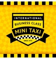 Taxi symbol with checkered background - 04 vector image vector image