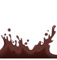 Chocolate splash vector image vector image