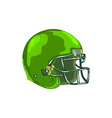 American Football Helmet Green WPA vector image vector image