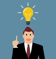 Businessman thinking a new idea vector image