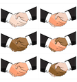 6 Business Handshake Set vector image vector image