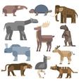 Ice age animals vector image