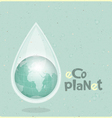 ecology concept Water planet vector image