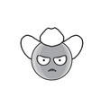 cartoon face angry country man people emotion icon vector image