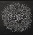 cartoon hand drawn doodle happy easter vector image