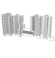 complex housing vector image