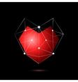 Heart shape symbol isolated on black background vector image