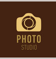 logo for photographer or photo studio vector image