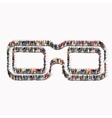 people shape 3D glasses Icon vector image