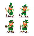 Set of red-haired Leprechauns for StPatricks Day vector image