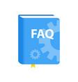 user guide faq book download icon flat vector image