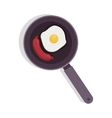 food frying pan with eggs and sausace vector image