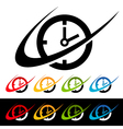 Swoosh Clock Logo Icons vector image vector image