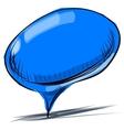 Blue speech bubble cartoon vector image vector image