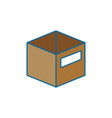 box deposit object vector image