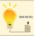 brain and idea vector image