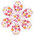 flower shape vector image vector image
