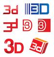 3d symbol set vector image