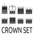 Crown set1 vector image