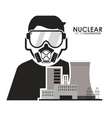 Nuclear design worker and industry concept vector image