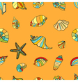 shell seamless background vector image