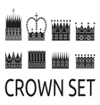 Crown set1 vector image