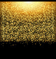falling glow gold particles on black background vector image