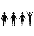 female weight loss silhouettes vector image