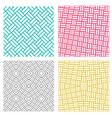 geometric seamless weave line pattern in korean vector image