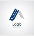 home 3d triangle logo vector image