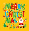 merry christmas happy new year santa claus vector image