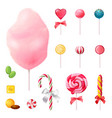 sweets realistic icons set vector image