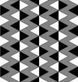 Triangle black and white seamless pattern vector image vector image