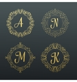 Monograms and calligraphic borders vector image