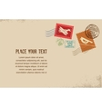 Vintage envelope with rubber stamps vector image