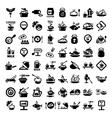 Big food icon set vector image