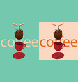 coffee is falling vector image