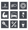 Icons for Web Design set 34 vector image