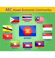 asean flags vector image