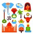 India symbols set vector image
