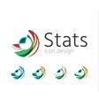 Statistics company logo set vector image vector image