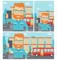 Man making selfie vector image vector image