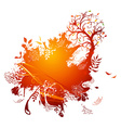 Bright autumn vector image