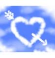 Cloudy heart vector image