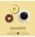 Dessert menu vector image