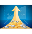 Growth market chart vector image
